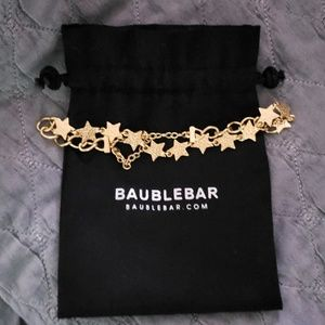 BaubleBar Gold Star Choker Necklace
